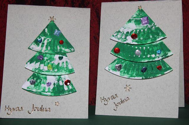 Luukku 4 : Joulukorttien askartelua