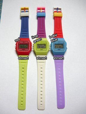c76c3c49fe8 NEW FUNKY STYLE CASIO F-91W MULTI COLOR (LIME GREEN) DIGITAL SPORT WATCH