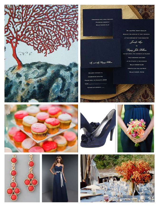 coral and navy, love the colors!