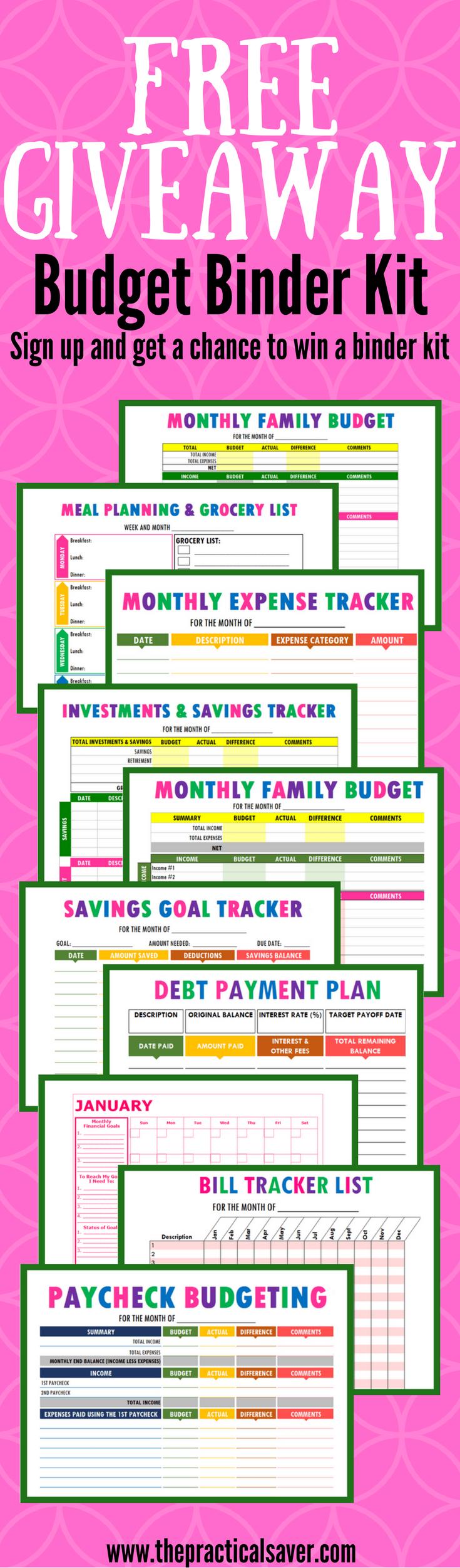 budget binder printables budget calculator loan calculator and