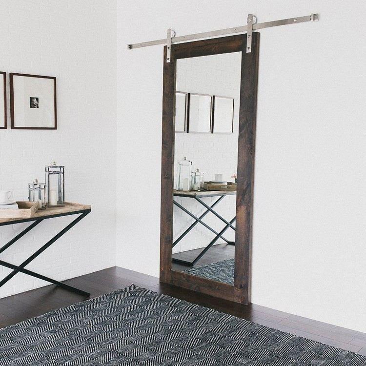Porte Coulissante Suspendue De Style Grange Ou Moderne Un Accent - Porte placard coulissante de plus porte exterieur