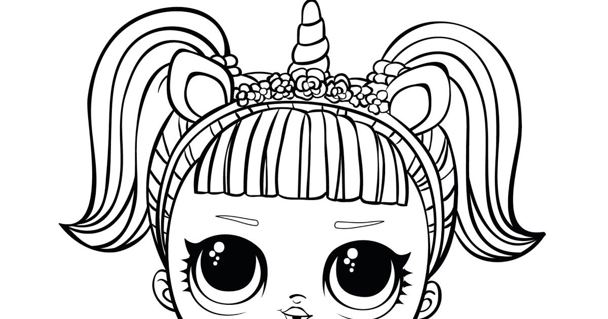 Surprise Doll Coloring Page