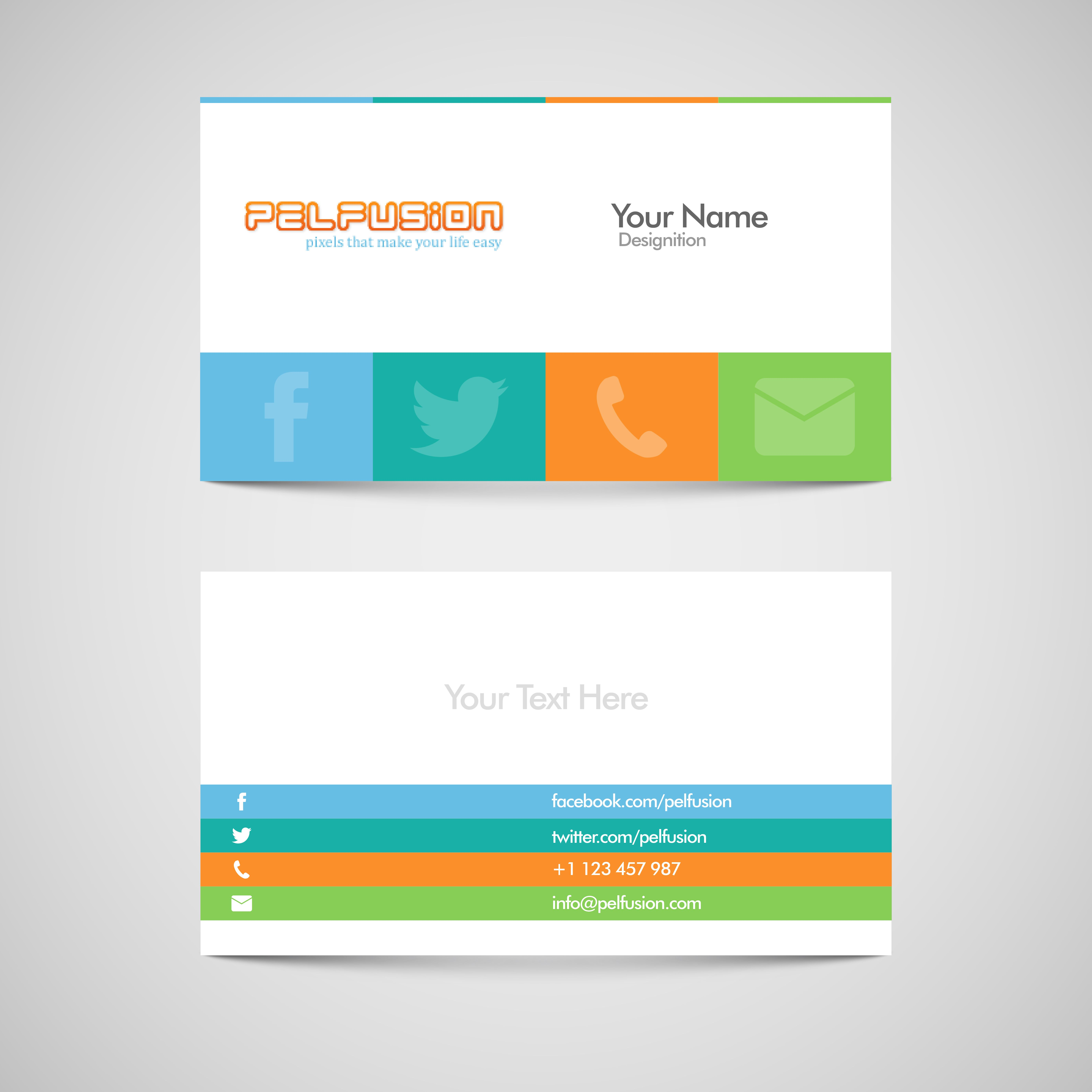 Sm Vc Free Social Media Business Card Vector Format Design WEB - Free business card layout template