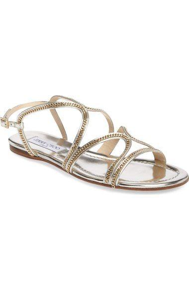 ee9006f0f8fe8b JIMMY CHOO Nickel Flat Sandal (Women).  jimmychoo  shoes  flats
