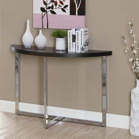 Monarch Specialties Cappuccino Half-Round Console And Sofa Table I 303