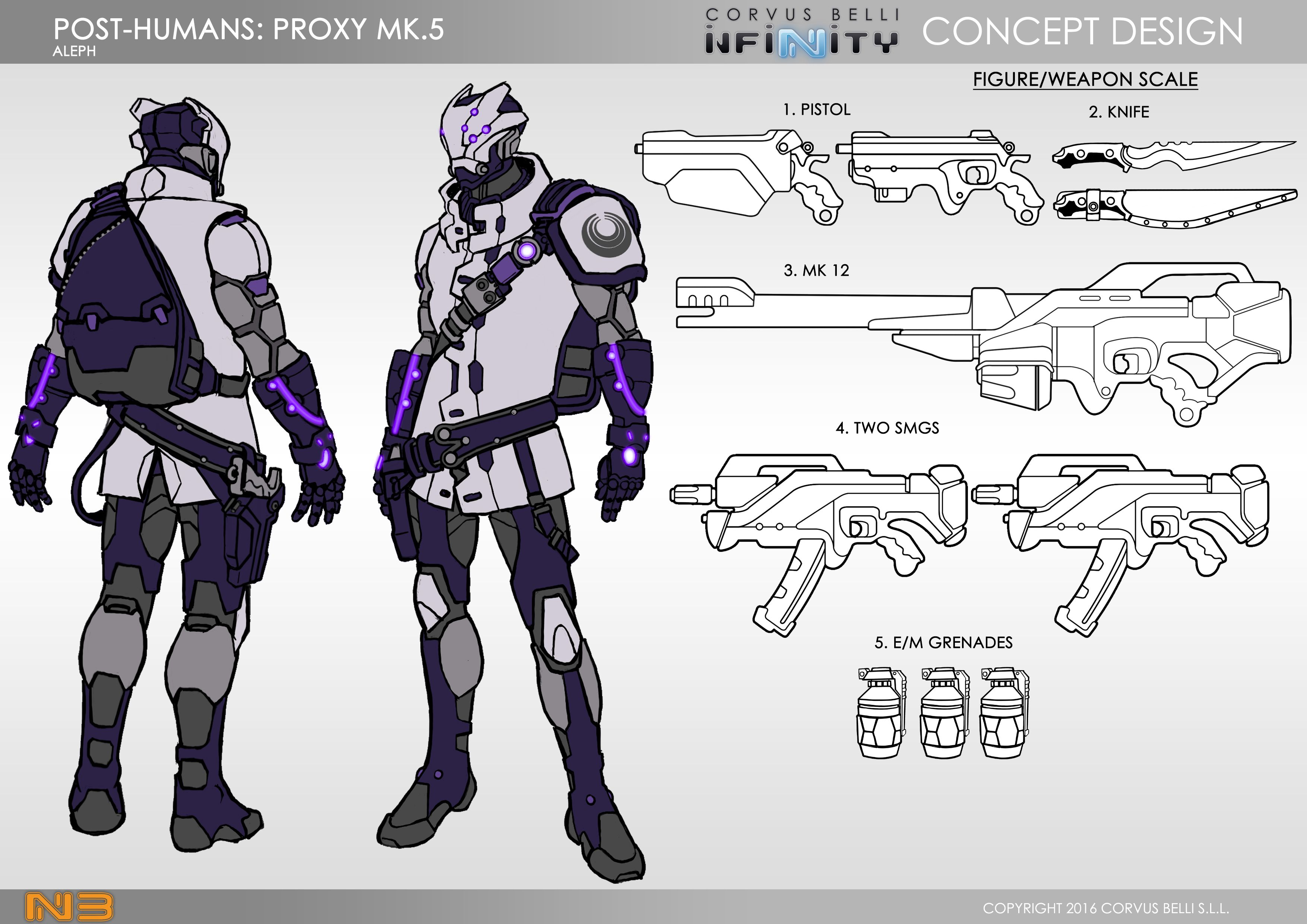 ALEPH Post Humans Proxy MK 5 | Beasts of War Concepts in