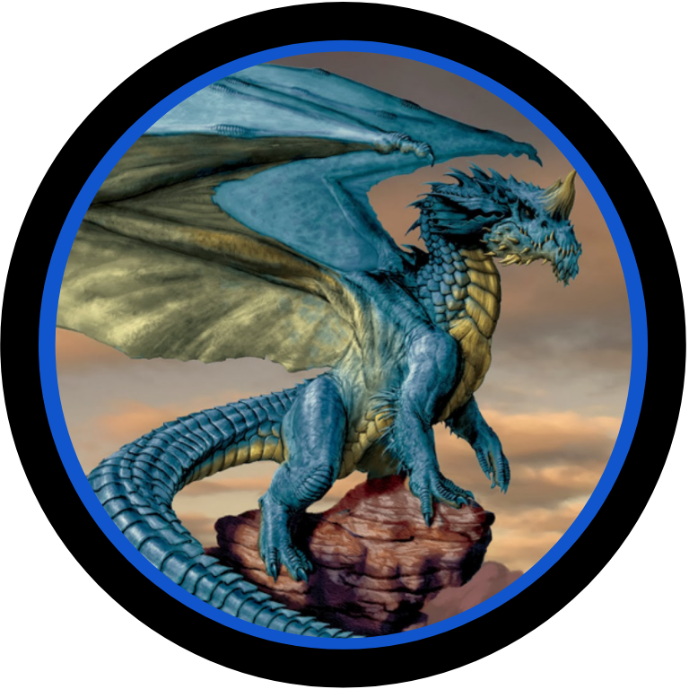 Dragon Blue Token Dungeons And Dragons Game Dungeons And Dragons Character Art