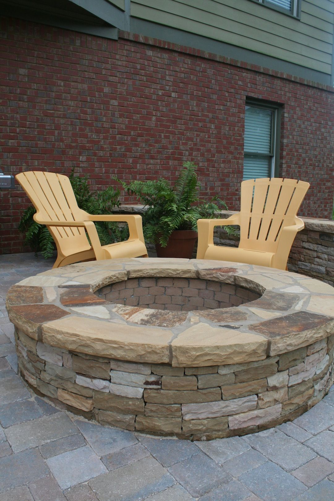 Outdoor Covered Patio With Fireplace Great Addition Idea Dream Dream Dream: Backyard Patio, Stone Fire Pit, Backyard Inspiration