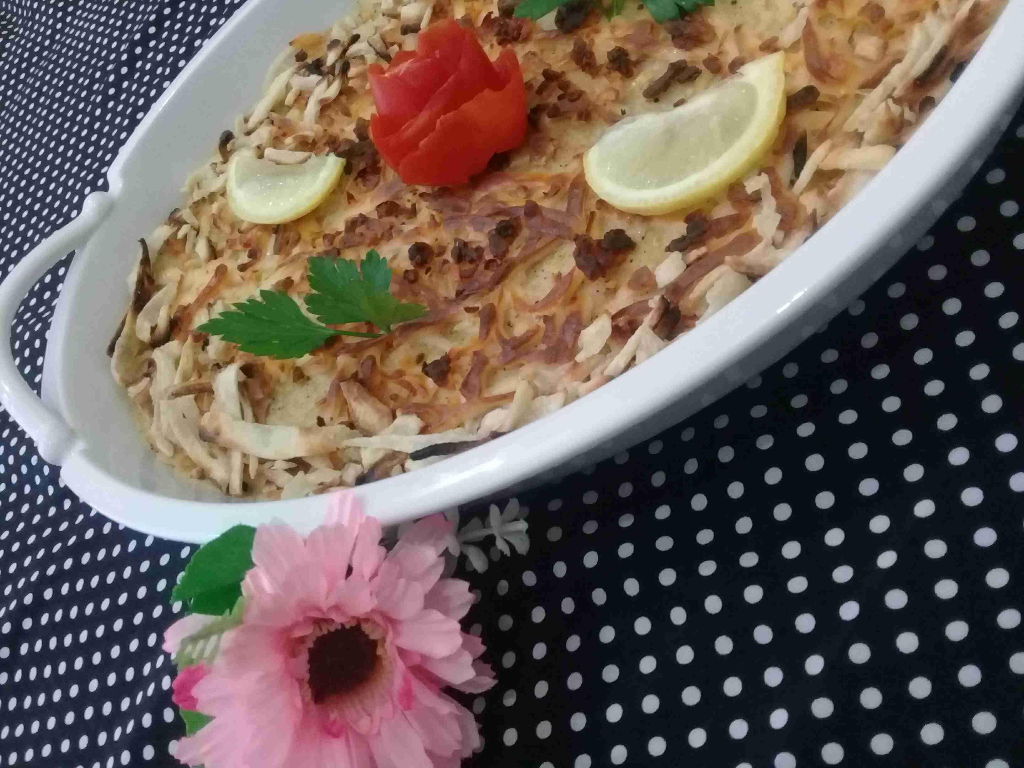 صينية البطاطس المهروسة الرائعه على ذوقي ملكة رمضان زاكي Recipe Food Side Plates Plates