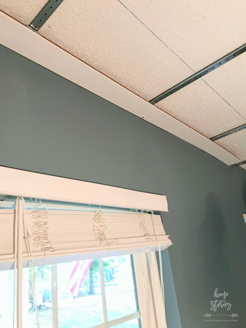 How To Cover A Popcorn Ceiling Using Beautiful Armstrong Woodhaven