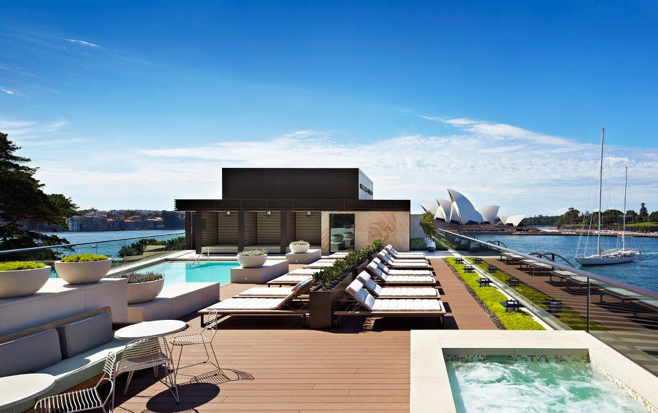 The new rooftop pool at the park hyatt sydney a heated - Heated public swimming pools sydney ...