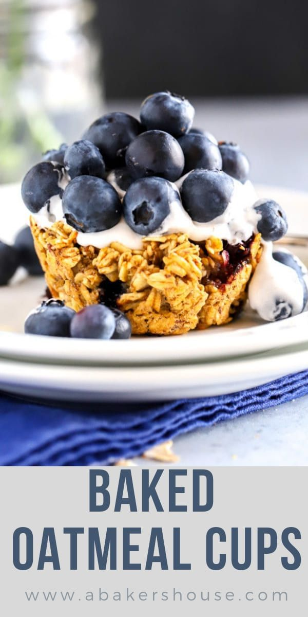 Blueberry baked oatmeal cups made with Oat Yeah™ then topped with Cocowhip™ and loaded with fresh blueberries make a beautiful vegan and dairy-free dessert.