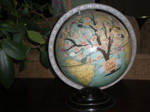 on a globe?