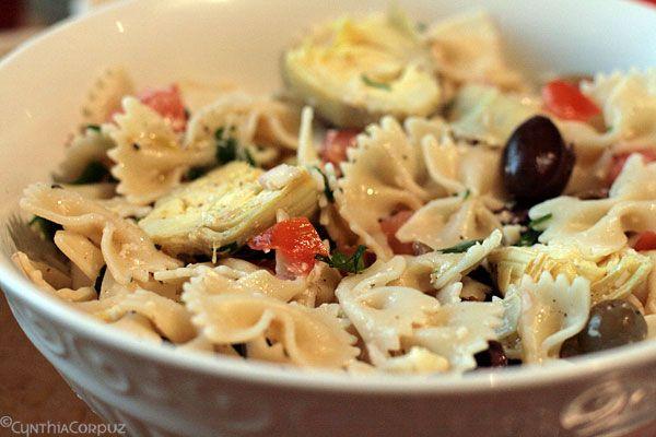 Artichoke Bowtie Pasta Salad