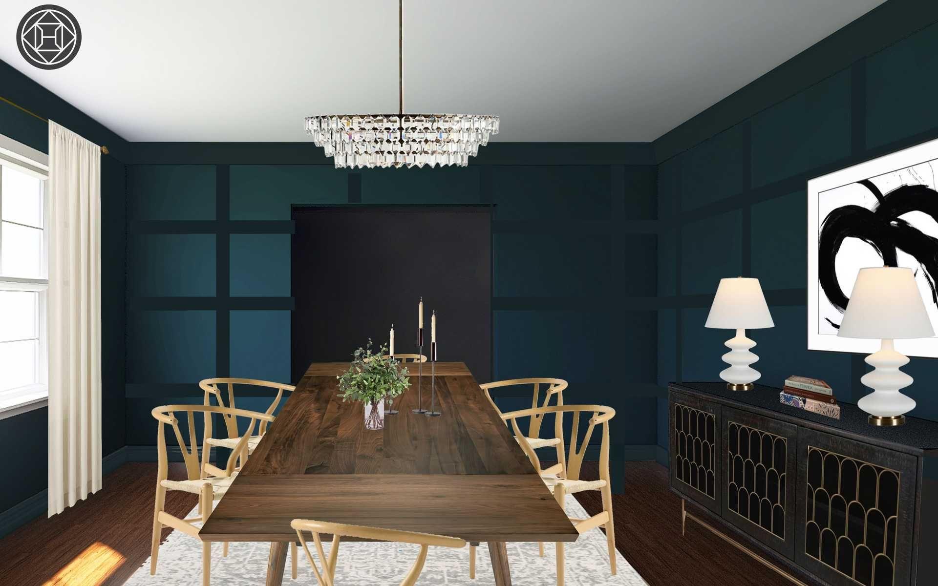 Contemporary Modern Glam Midcentury Modern Dining Room Design By Havenly Interior Designer Tara Dining Room Design Modern Dining Room Design Interior Design