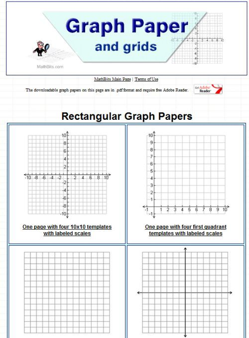 Printable Graph Paper | Math Estimating/Data/Coordinate Grid