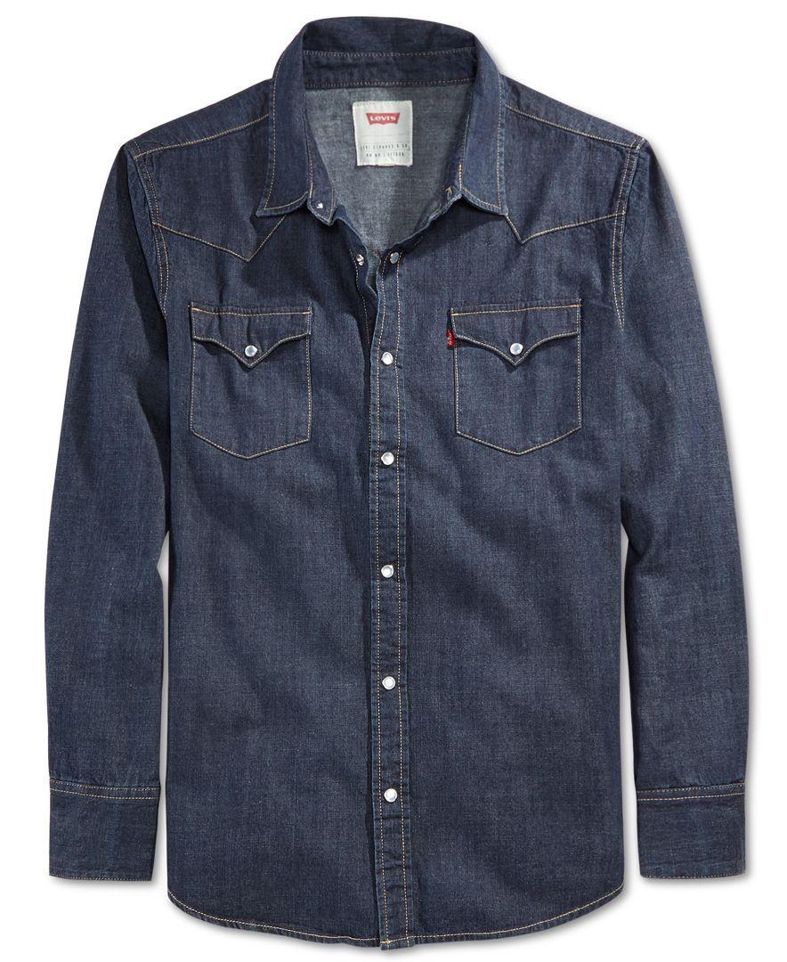 6efaea375b Levi s Standard Barstow Western Long-Sleeve Denim Shirt