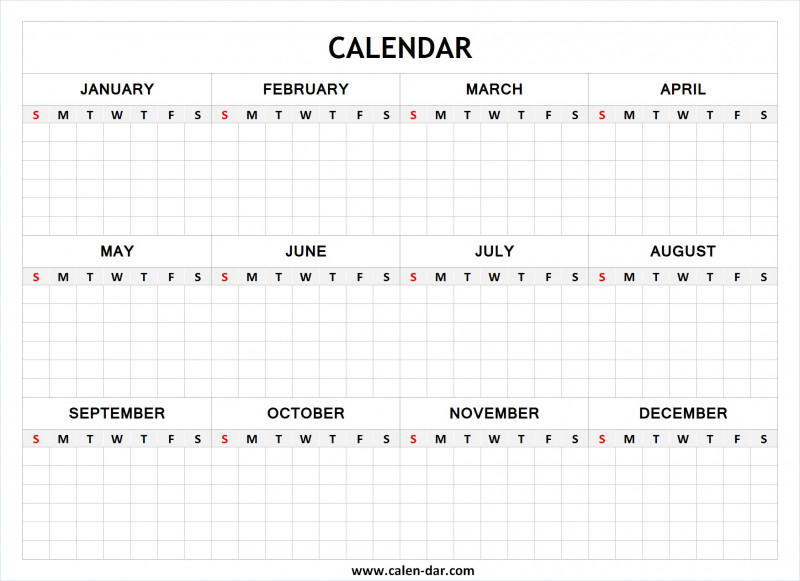 Full Page Blank Calendar Template Awesome Blank Calendar