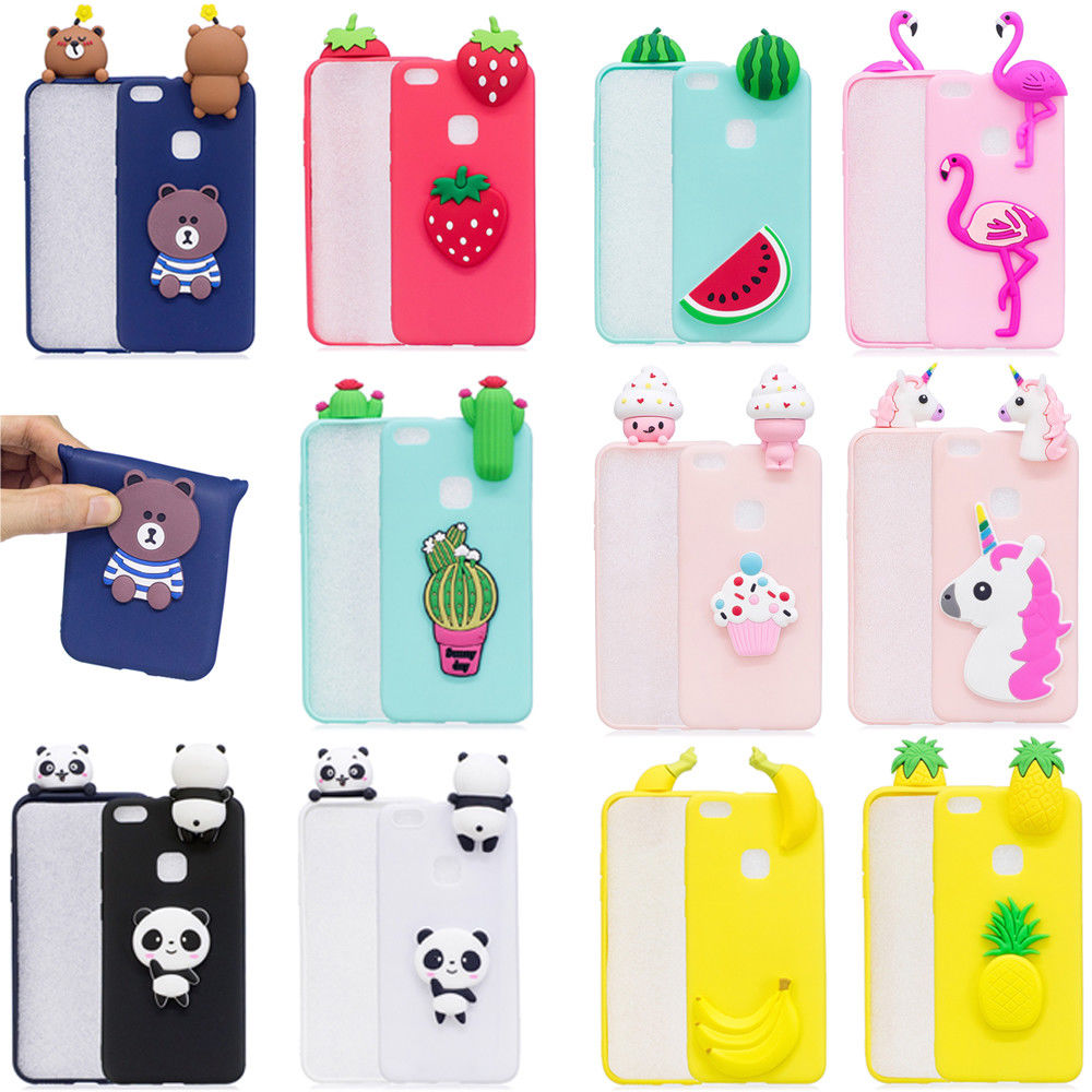 3.59AUD - Cute 3D Cartoon Soft Gel Case Cover Shockproof For ...