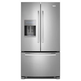 Shop Whirlpool Gold 25.5 cu ft French Door Refrigerator (Monochromatic Stainless Steel) ENERGY STAR at Lowes.com