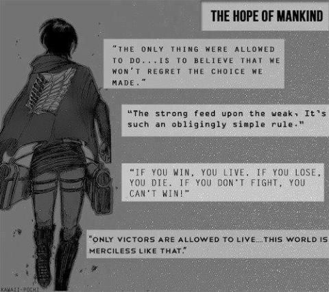 Pin by Genevieve B on Attack on Titan! | Levi quotes ...