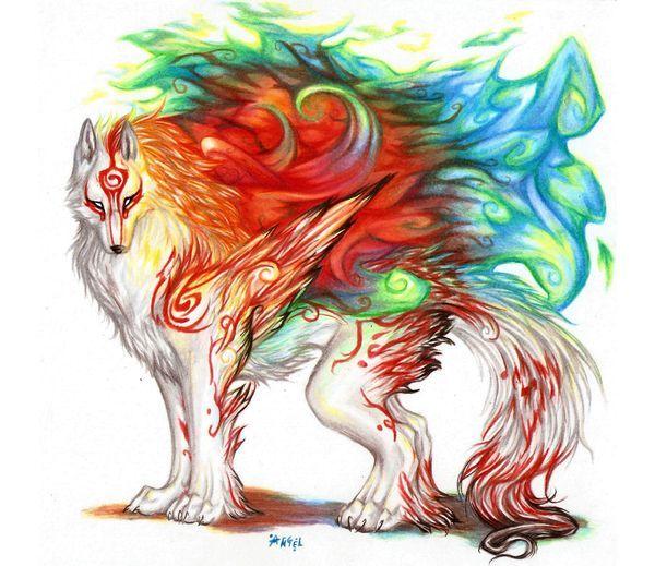 Amaterasu Okami Videogame Ookami Playstation Wolf Whitewolf