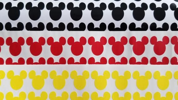 Set of 30 Mickey Mouse Vinyl Decals, Decals for Cup, Balloon, Disney Party, Envelope Seal, Party Dec #disneycups