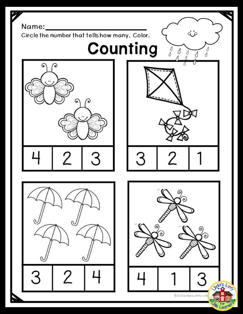 Spring Math Preschool Printables Reinforce Counting Practice To 10 And Many Other Preschool Math Co Spring Math Preschool Preschool Math Worksheets Spring Math Spring addition worksheets for