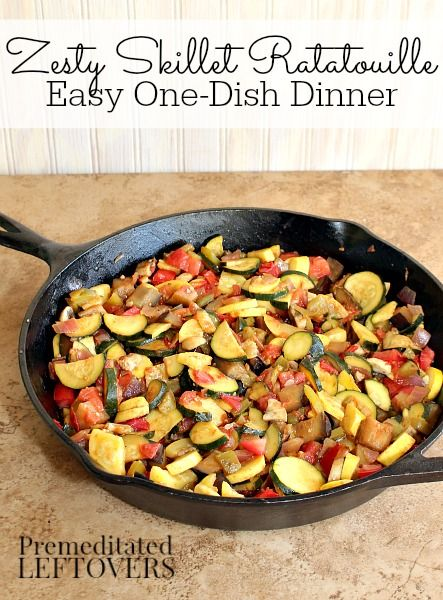 Cast Iron Skillet Ratatouille Recipe Easy One Dish Dinner