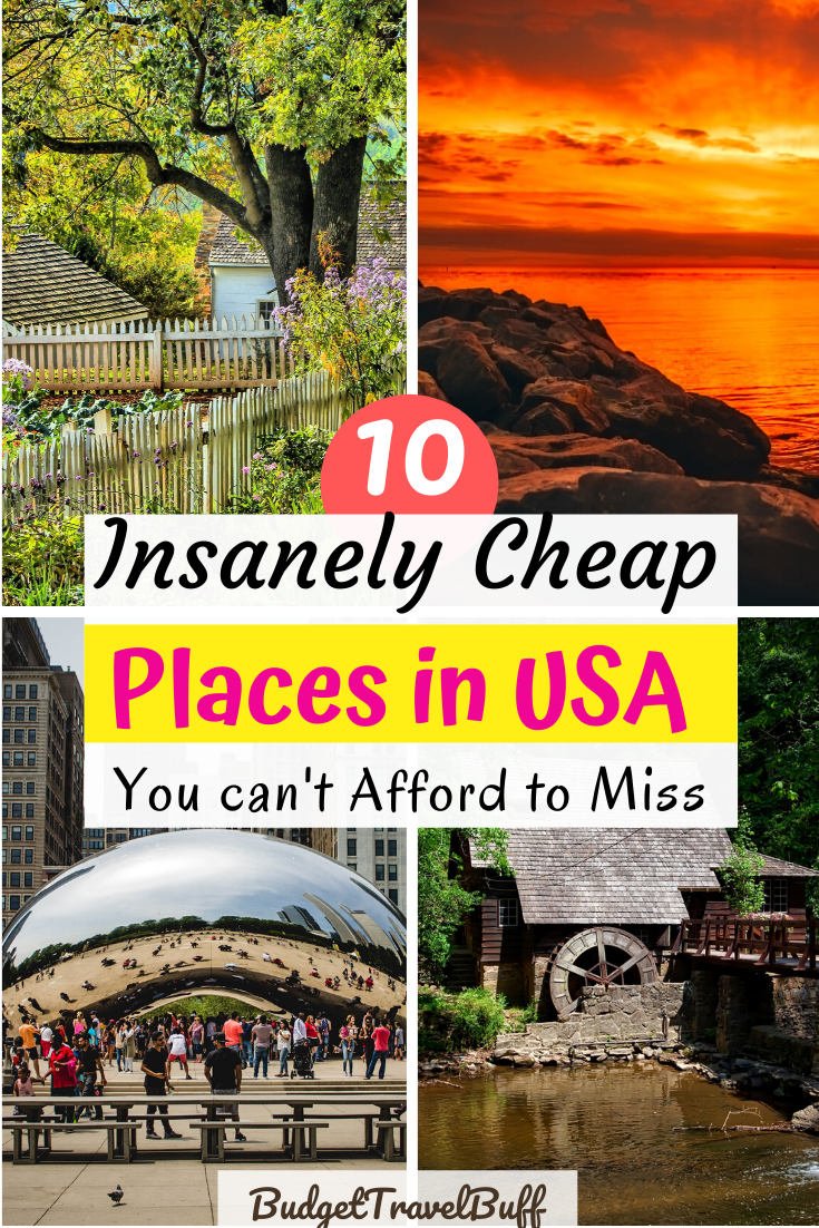 10 Most Affordable Places To Visit In The Usa Budgettravelbuff Cheap Places To Travel Cheap Places To Visit North America Travel Destinations
