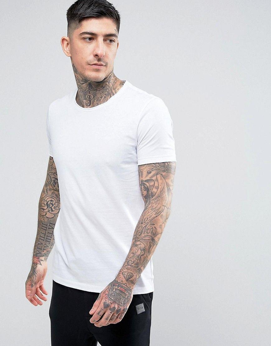 fdfbb864 BOSS ORANGE BY HUGO BOSS TOOLES BASIC CREW T-SHIRT WHITE - WHITE.  #bossorange #cloth #