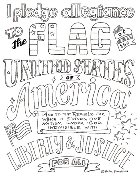 Pledge Of Allegiance Coloring Page Declaration Of Independence