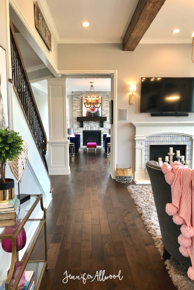 Our flooring makeover with prestained dark hardwood floors home