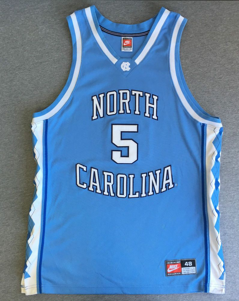 more photos 92cbc 17216 NIKE TEAM SPORTS Jersey 90 s ED COTA  5 North Carolina TAR HEELS Sewn USA  XL 48