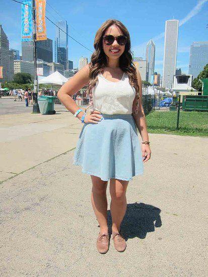Skater skirt and oxfords