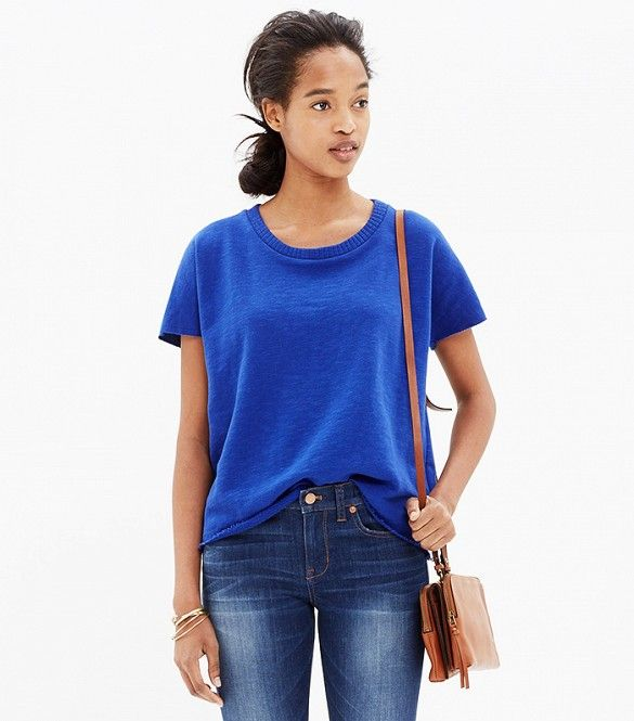 Madewell Cutoff Short-Sleeve Sweatshirt