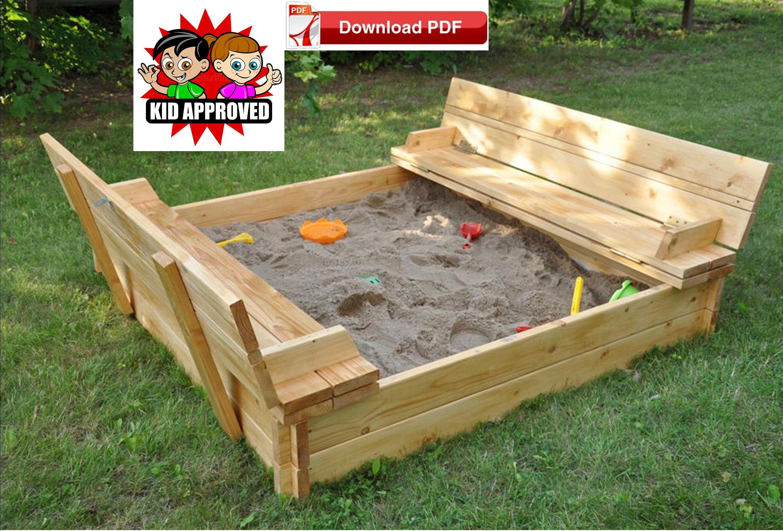 Playground Plan Sandbox Plan Sand Box Plan Sandbox With Bench