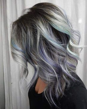 Curly Medium Haircuts for Thick Hair - Pastel Balayage Hairstyles