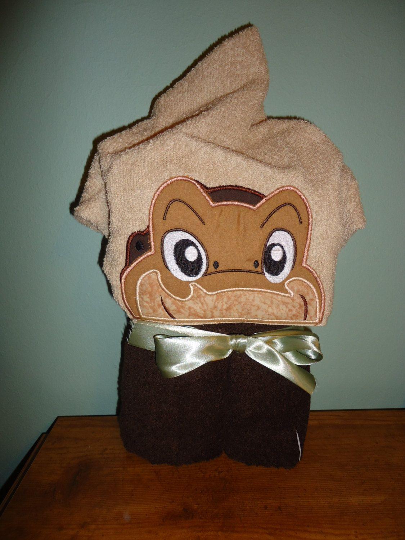 Baby Dinosaur Hooded Bath Towel, Longneck, Dinosaur, Brown and Tan ...