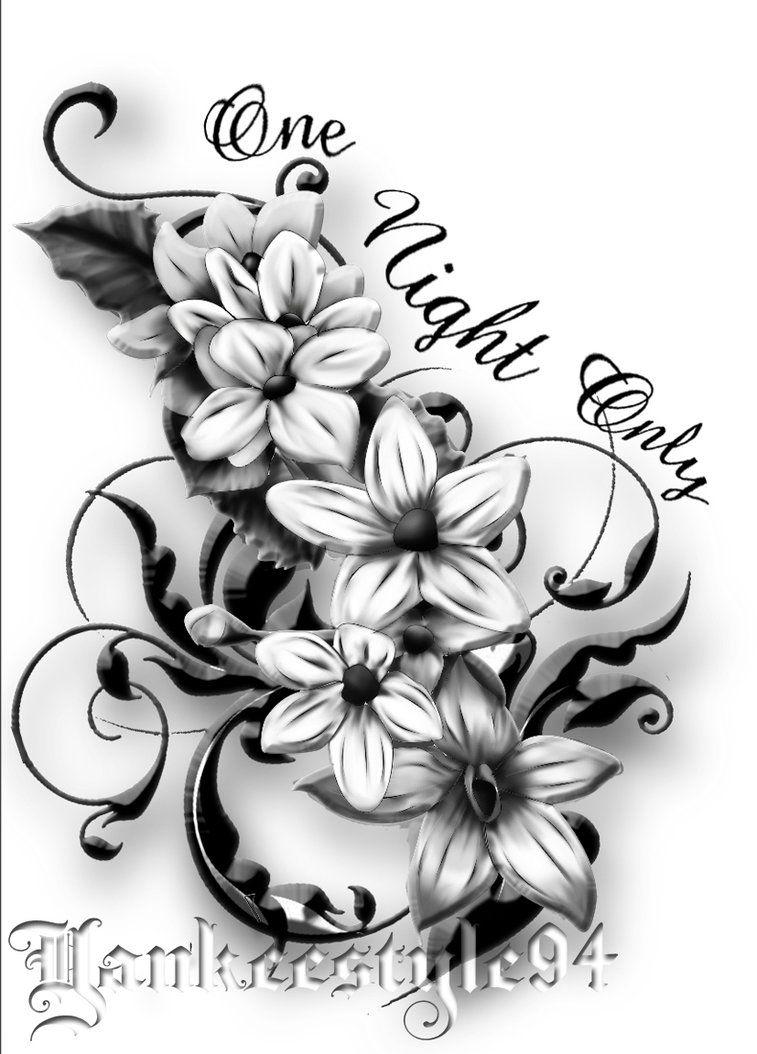 Jasmine Tattoo By Yankeestyle94 On Deviantart Jasmine Flower Tattoos Jasmine Tattoo Larkspur Tattoo