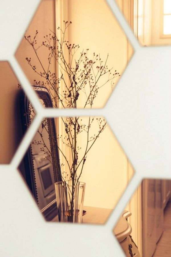 hexagon-spiegel-koper | Home Sweet Home | Pinterest | Mirror mirror ...