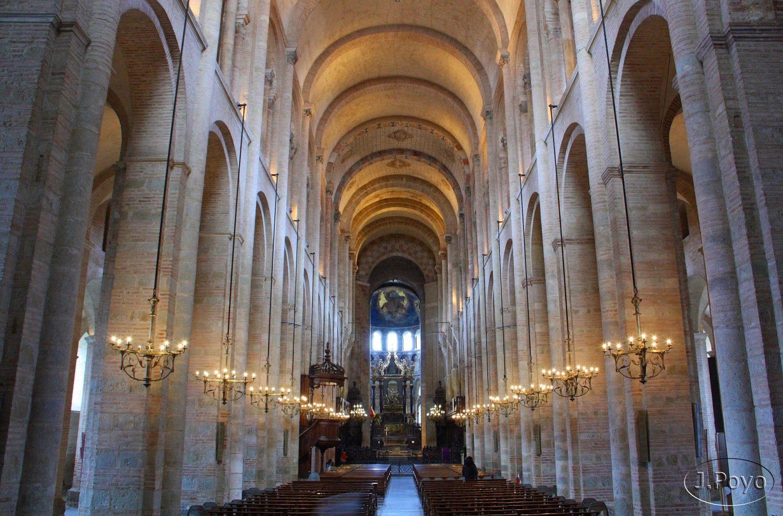 Iglesia de san sernin interior arq rom nica i for Interior iglesia romanica