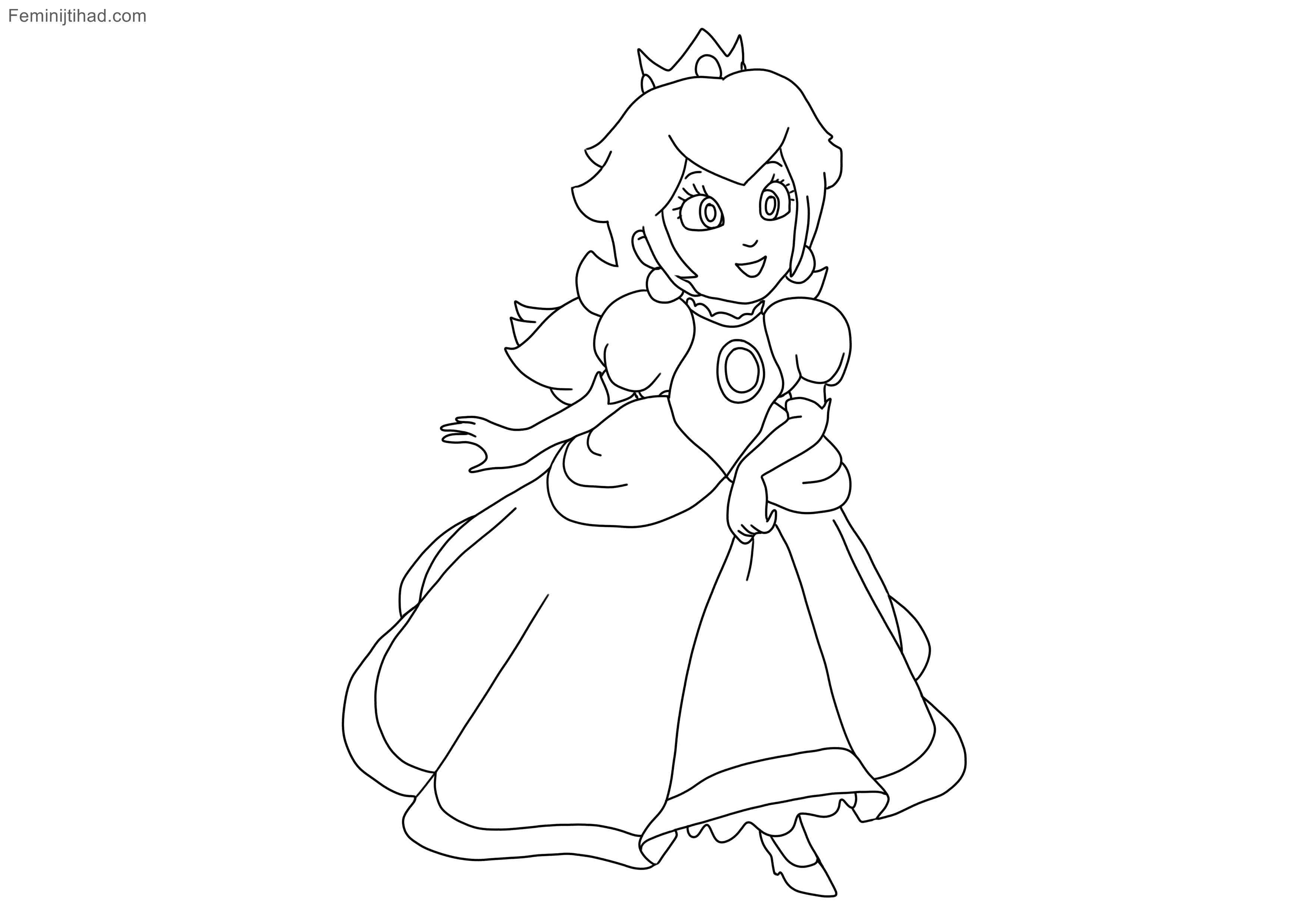 princess peach coloring pages collection  coloring pages