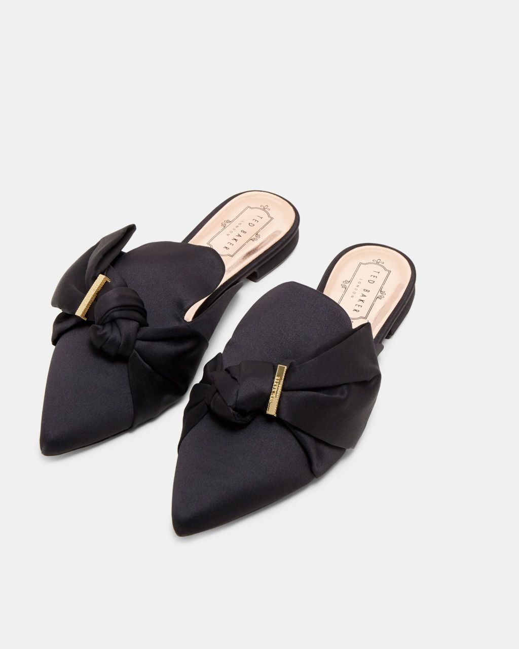 bc22e99f6d63 Satin bow loafers - Black