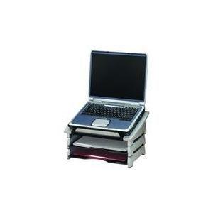 support ordinateur portable gris office suites inclinaison du support ajustable rebord. Black Bedroom Furniture Sets. Home Design Ideas