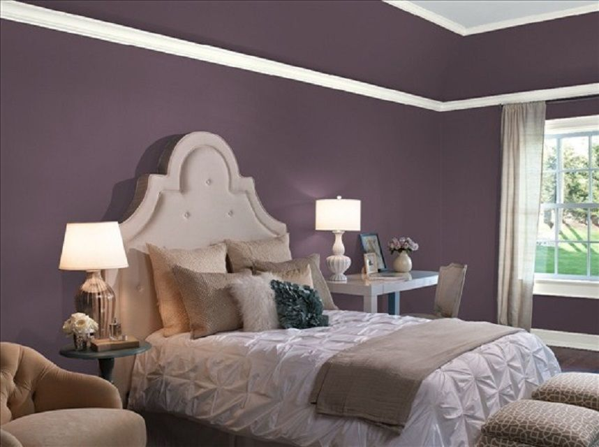 Elegant Purple Paint Colors For Bedrooms 10 Great Pink And ...