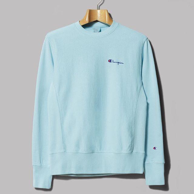 Baby Blue Dream Oipolloi Of Cottonopolis Chosenby Blue Champion Sweatshirt Sweatshirts Crew Neck Sweatshirt