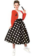 Adult Womens Polka Dot Rocker 1950s 50s Fancy Dress Rock N Roll