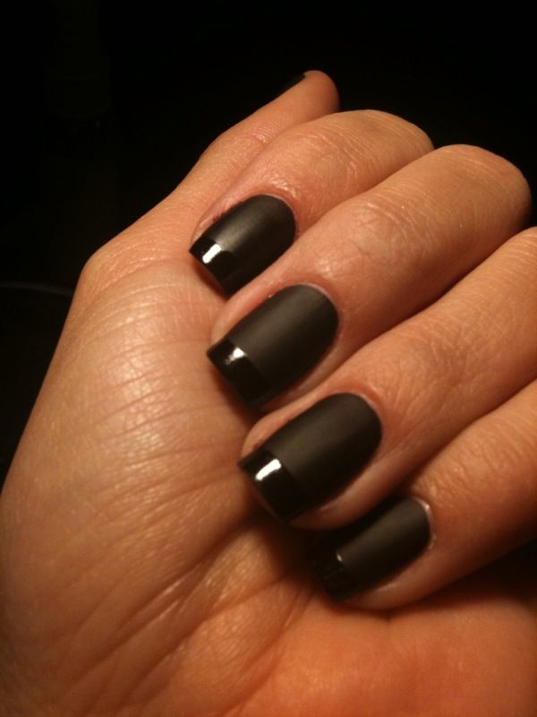 Black French Manicure Designs | don\'t think I\'ve ever said the word ...