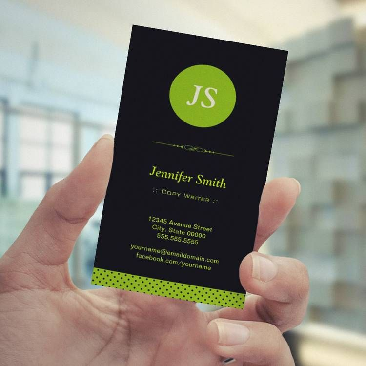 Copy writer stylish apple green business card green business copy writer stylish apple green business card cheaphphosting Image collections
